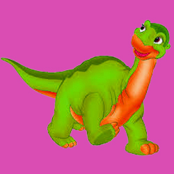cartoon dinosaur